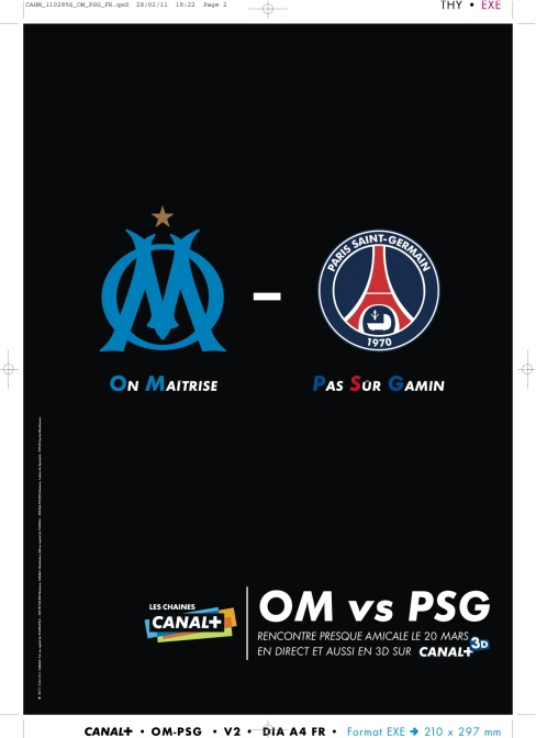 CANAL+ PRINT OM PSG