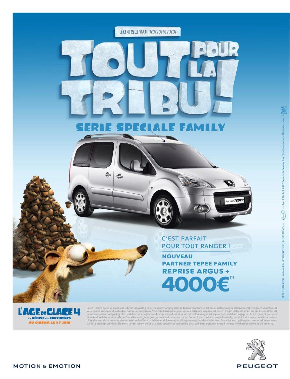 Peugeot Event Age de glace 1