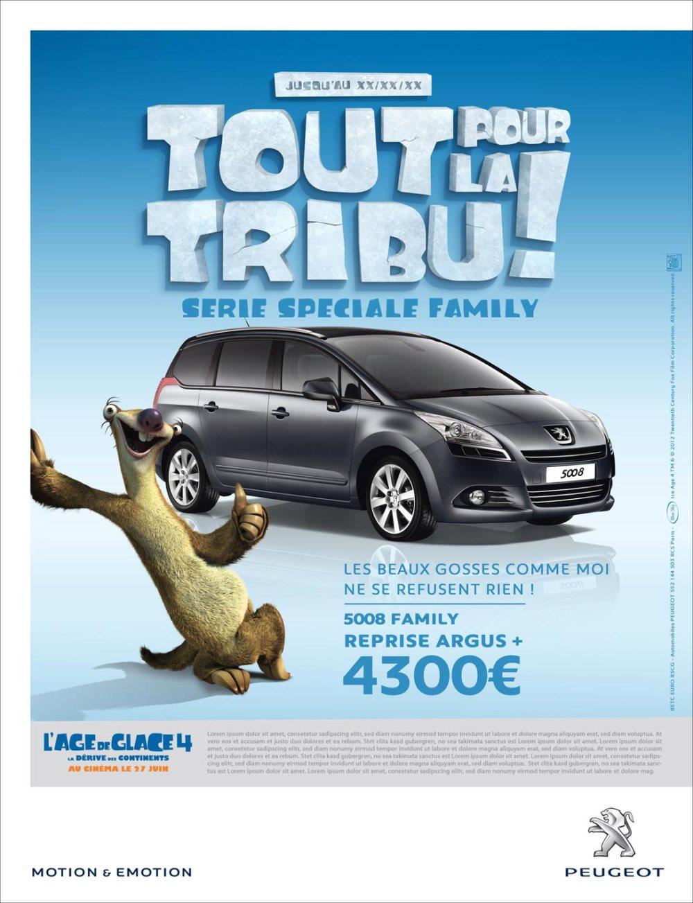 Peugeot Event Age de glace 2