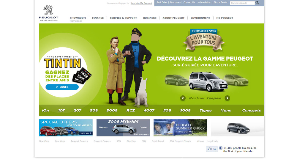 Peugeot Event Tintin 3