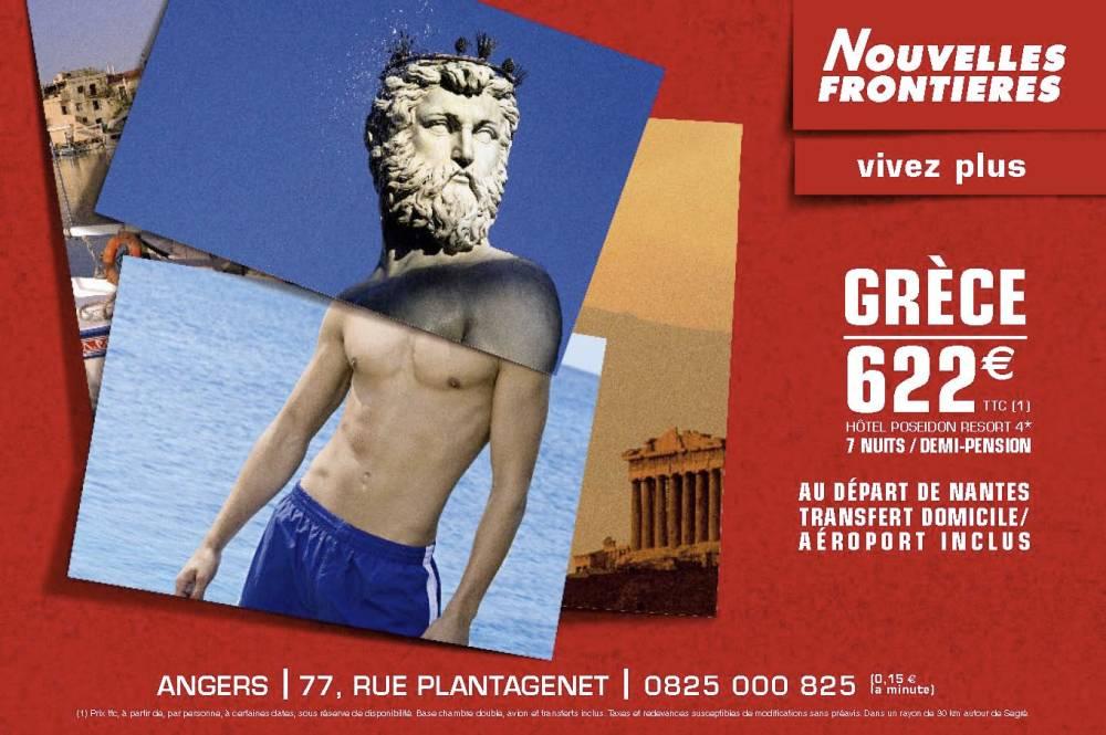 NOUVELLES FRONTIERES AFFICHE GRECE