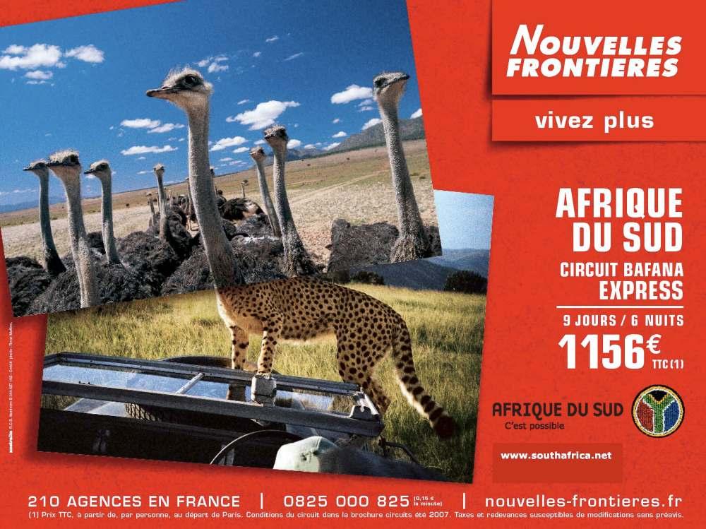 NOUVELLES FRONTIERES BROCHURE AFRIQUE
