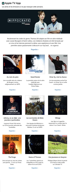 LE RÉDAC email Apple novembre